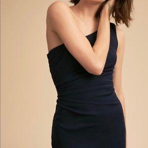 Katie May BHLDN navy blue off shoulder gown sz 18